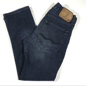 28x28 American Eagle Slim Straight Dark Wash Jeans